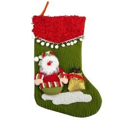 Green/ Red Christmas Stocking