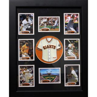 San Francisco Giants Mini Jersey and Baseball Cards Frame Today $58