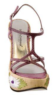 Dolce & Gabbana Womens Python Wedge Sandals