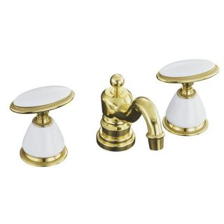 Kohler K 280 9B PB Vibran Polished Brass Anique Widespread Lavaory