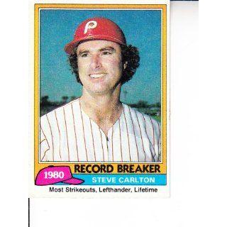 1981 Topps #202 Steve Carlton RB Baseball