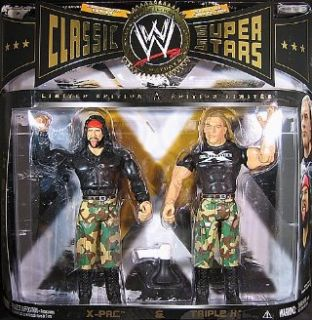 TRIPLE H & X PAC   CLASSIC SUPERSTARS 2 PACK EXCLUSIVE WWE