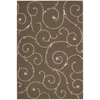 Cambria Brown Wool Blend Rug (8 x 10)