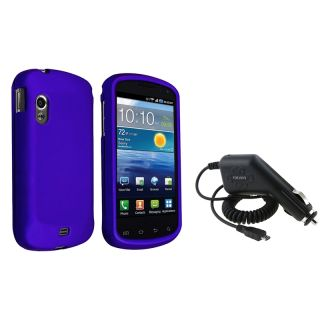 Blue Case/ Car Charger for Samsung Stratosphere i405