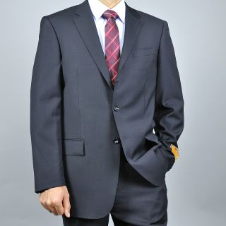 Enzo Tovare Mens Black Wool Suit