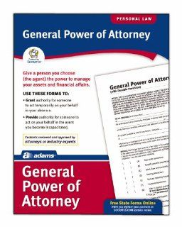 Adams General Power of Attorney Form, 8.5 x 11 Inch, White