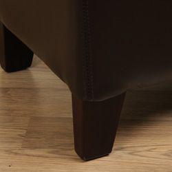 Ariel Faux Leather Storage Bench