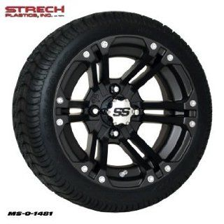 205x30 12 Ultra GT on 12x7 4/4 2+5 SS212 Black Alloy Wheel