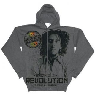Bob Marley   Revolution Zip Hoodie   Medium Clothing