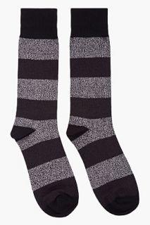 Marc By Marc Jacobs Metallic Silver Striped Lurex cotton Socks for men