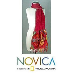 Wool Radiant Red Scarf (India)