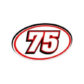 75 Number   Jersey Nascar Racing Window Bumper Sticker
