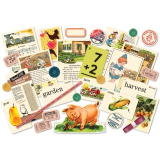 Farm Girl Miscellany Embellishment Assortment Die Cuts, Buttons