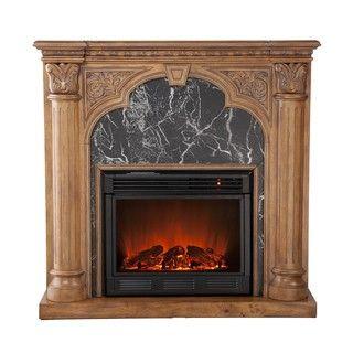 Vickery Old World Oak Electric Fireplace