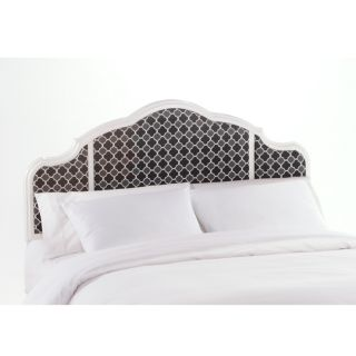 Murdoch Licorice Velvet White Finish Queen size Headboard