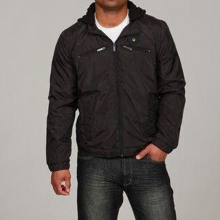 Kenneth Cole Mens Black Hooded Jacket