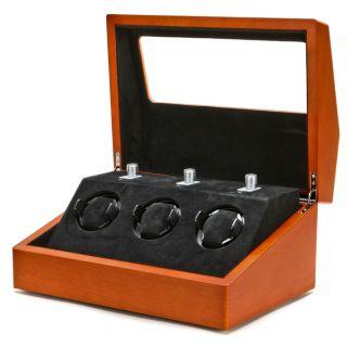 Collectors Multi Function Brown Watch Winder