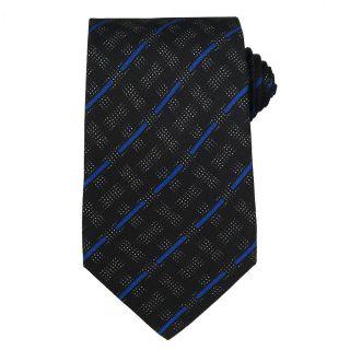 Versace Mens Greek Key with Dot Diamonds Silk Tie
