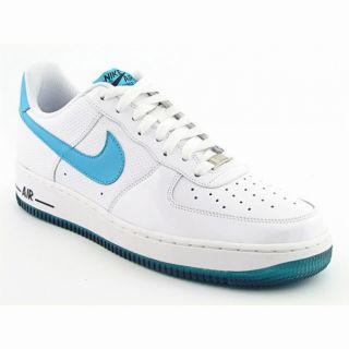Nike Mens Air Force White/ Marina Blue/ Dark Obsidian Basketball