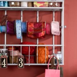 Hays Silver Wall Mount Craft Storage Rack