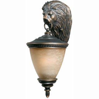 Lion 3 light Oil Rubbed Bronze Outdoor Wall Light