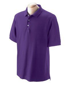 Purple Short Sleeve Pima Cotton Polo Shirt Clothing