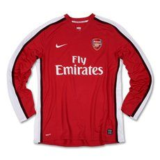 Nike Arsenal Home Long Sleeve Jersey 08/09 Extra Large
