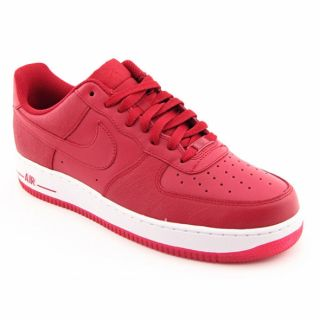 Nike Mens Air Force 1 07 Red Basketball Shoes (Size 13