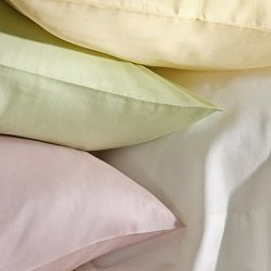 Laura Ashley Solid Cotton 300 Thread Count Queen size Sheet Set