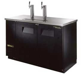 True TDD 2, 59 Wide Direct Draw Beer Dispenser