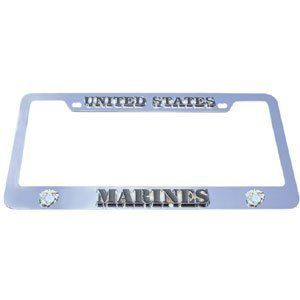 US Marines License Plate Tag Frame   NCAA College