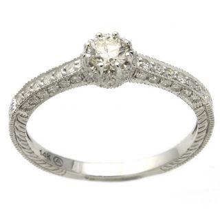 14k White Gold 1/2ct TDW Diamond Engagement Ring (H I, I1)
