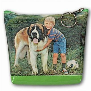 Lenticular Picture, Saint Bernard Dag and Boy, TP 213 Pavia Clothing