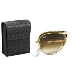 Ray Ban Unisex RB3479 Foldable Aviator 001/51 Gold Metal Sunglasses