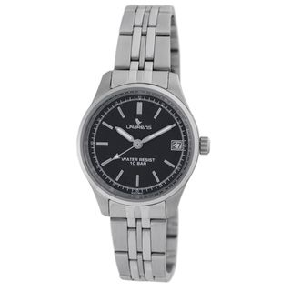 Laurens Italian Design Womens Stainless Steel Black Dial Watch