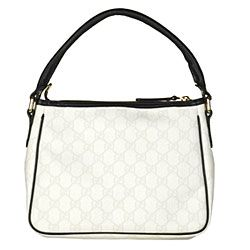 Gucci Joy White and Black Small Hobo Bag
