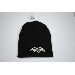 BALTIMORE RAVENS Classic Black Cuffless Embroidered Logo