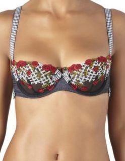 com Aubade Cherry Cherie Rockabilly Black and Red Bra 214 2 Clothing