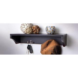 Sarah Peyton Wooden Shelf with Hangers