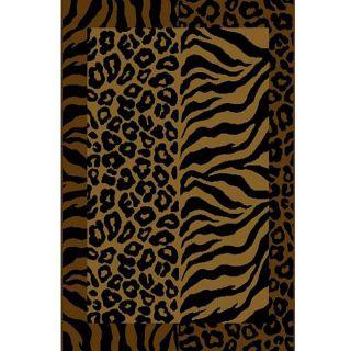 Alexa Cameo Zebra/ Leopard Animal Fusion Print Gold Rug (311 x 57