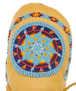 Morning Star Size 7 Beaded Moccasin (Native American)