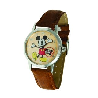 Disney Ingersoll Womens Tan Mickey Mouse Watch Today $59.99
