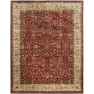 Handmade Persian Legend Red/ Ivory Wool Rug (96 x 136)