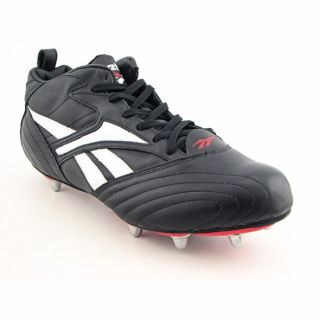 Reebok Mens Visigoth Mid Black/White/Cajun Red Rugby Cleats