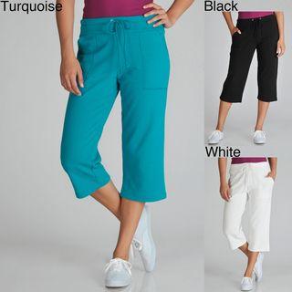 Central Park Womens Drawstring Capri Lounge Pants
