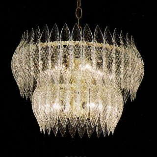 Kerchief 8 light Polished Brass Finish Chandelier