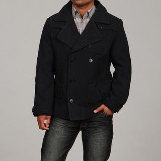 Projek Raw Mens Navy Double breasted Peacoat FINAL SALE