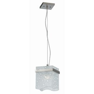 Arctic Ice 1 light Nickel Mini Pendant Light