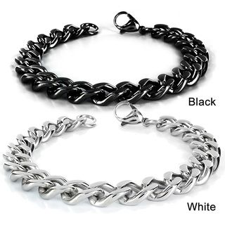 Stainless Steel Mens 8.5 inch Curb Chain Bracelet