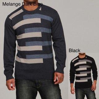 Francesco Bianchi Mens Color Block Crew Neck Sweater
